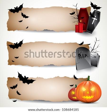 Halloween vertical banners