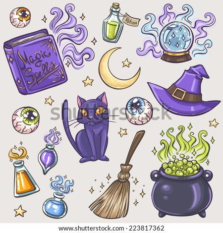 halloween witches attributes