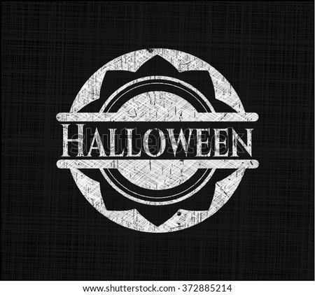 Halloween with chalkboard texture