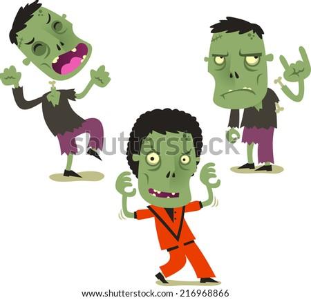 halloween zombie cartoon action