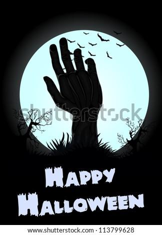Halloween Zombie hand background