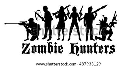 halloween zombie hunters team