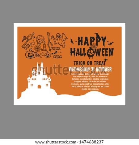Hallowen card invitation, party hallowen Stock photo ©