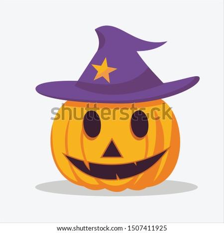 hallowen cute vector,pumpkins for hallowen days Stock photo ©