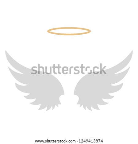 halo and angel wings   gold