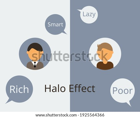 Halo Effect Influences How We Perceive and judge others Stock fotó ©