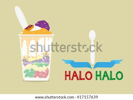 halo halo loosely means mixture