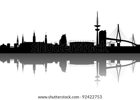 hamburg skyline abstract