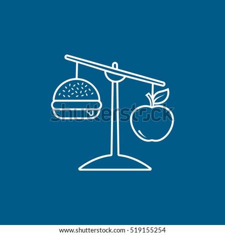 hamburger and apple balance