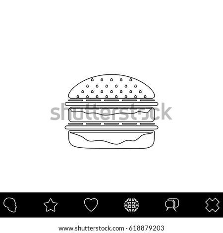 hamburger black outline vector