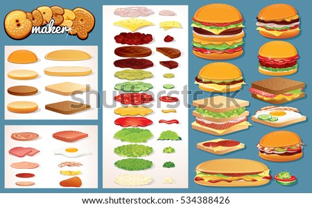 hamburger  burgers design
