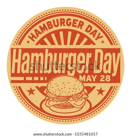 Hamburger Day, May 28, rubber stamp, vector Illustration