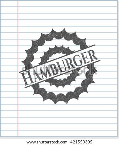 Hamburger draw with pencil effect