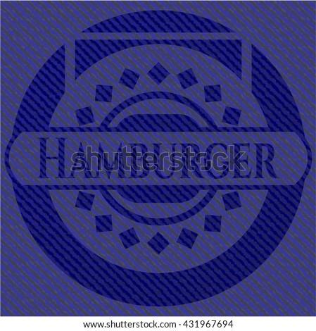 Hamburger emblem with denim texture
