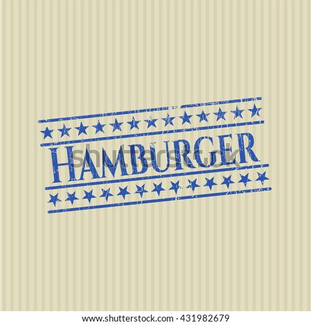 Hamburger grunge seal