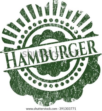 Hamburger grunge style stamp