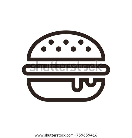 Hamburger icon  isolated on white background