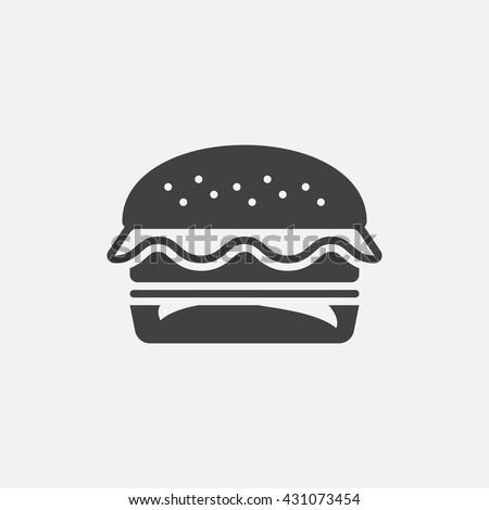 hamburger icon vector, burger solid logo illustration, cheeseburger pictogram isolated on white