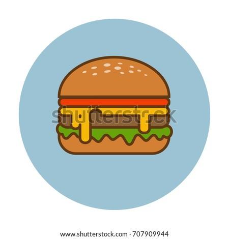 Hamburger icon. Vector Illustration.