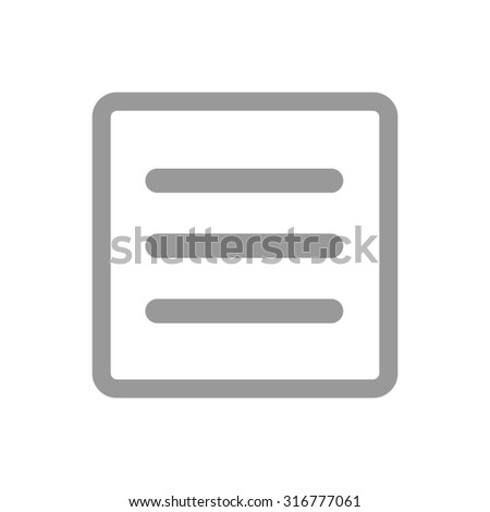 Hamburger menu icon for mobile apps and websites.