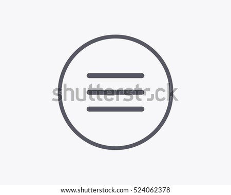 Hamburger Menu Icon - Vector illustration