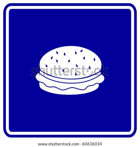 hamburger or cheeseburger sign - stock vector