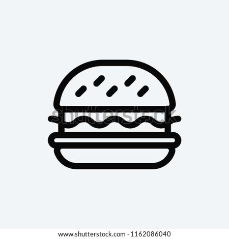 Hamburger vector icon