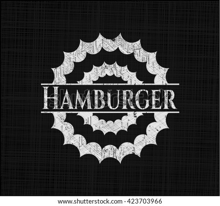 Hamburger written with chalkboard texture