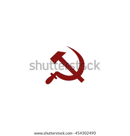 hammer and sickle isolated
