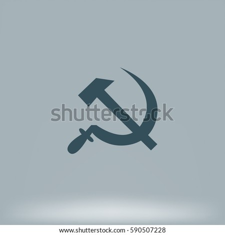 hammer and sickle isolated...