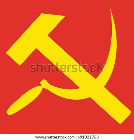 hammer and sickle sign of