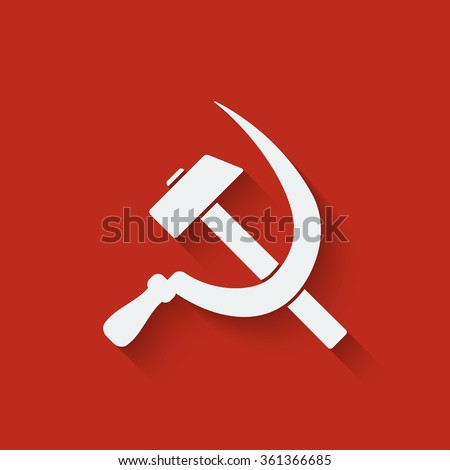 hammer and sickle symbol red