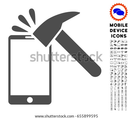 hammer break smartphone icon