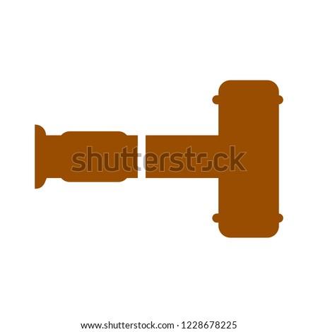 hammer icon. Law judge gavel symbol.