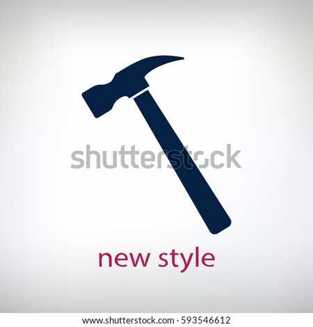 hammer icon. One of set web icons