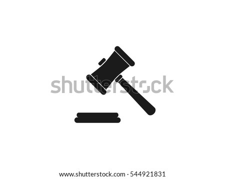 Hammer judge icon vector illustration on white background