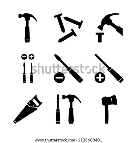 Hammer, nails and screwdrivers