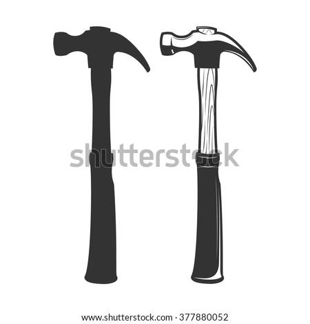 Hammer. Vector icon of hammer.