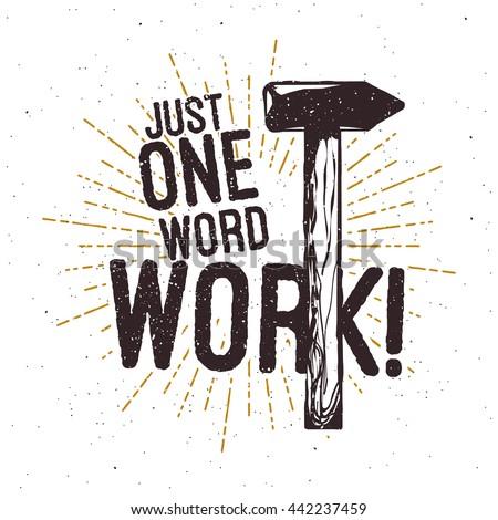 hammer vintage typography