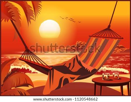 hammock on a sandy tropical