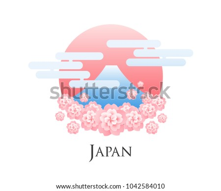 hanami japan abstract vector
