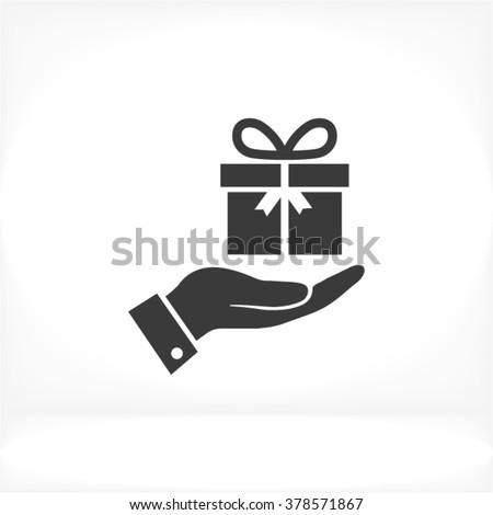 Hand a present Icon