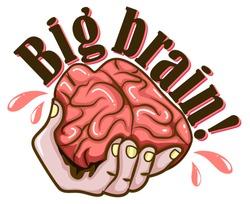 Hand and brain design illustration