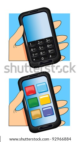 Hand and Smart Phone
