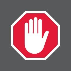 Hand blocking sign stop .Vector illustration. EPS 10.