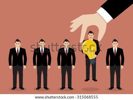 hand choosing worker who has