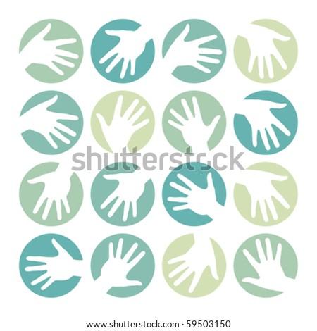 Hand circles design.
