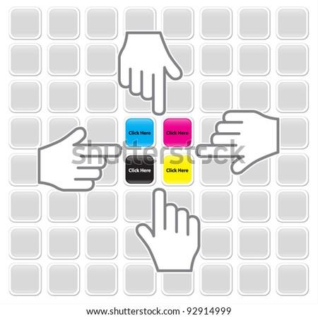 HAND CLICK BUTTON