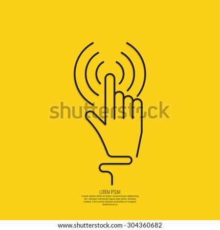 hand click hand cursor sign