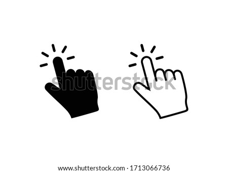 Hand click icon vector. Hand cursor icon